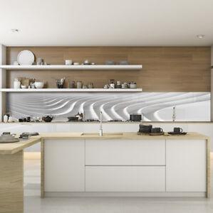 Kuchenruckwand Spritzschutz Kuche Gehartetes Glas Abstrakt Weiss