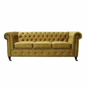 Klassische Chesterfield Design Big XXL Couch Schlafsofa Polster Sofa ...