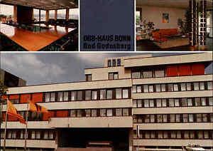 BONN-Deutscher-Beamtenbund-Gebaeude-Dreizehnmorgenweg-color-Ansichtskarte-ungel