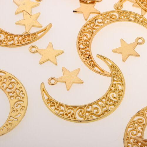 50 Stück Verschiedene Mond Sterne Charms Anhänger Connectors Charms DIY