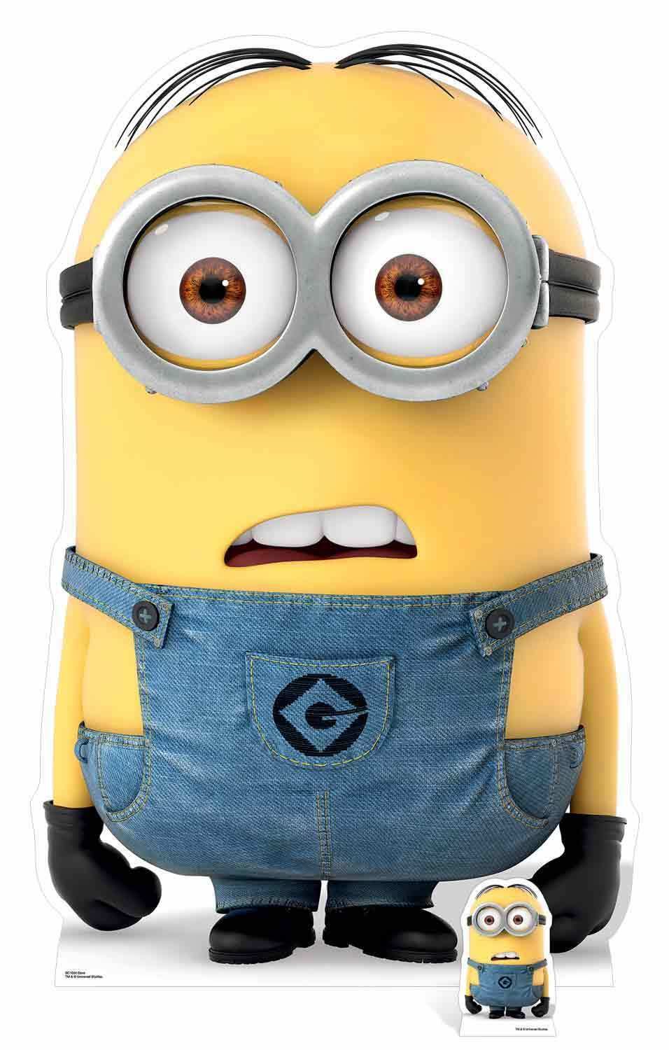 Dave Minion from Despicable Me 3 with Mini Cardboard Cardboard Cardboard Cutout   Stand up Minions ef4cf8