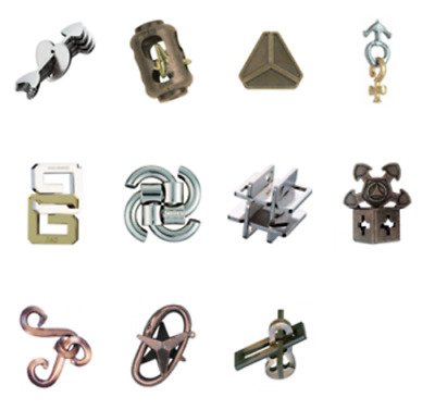 Huzzle Hanayama Cast Metal 3D Puzzles Difficulty Level 4 Hard New UFO