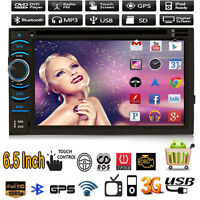 """Quad Core 6.5"""" Android 4.4 HD WIFI Double 2DIN Car Radio Stereo DVD Player GPS"""