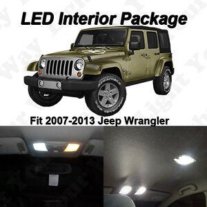 5 X Xenon White Led Lights Bulbs Interior Package Kit For Jeep Wrangler Jk Tj Ebay
