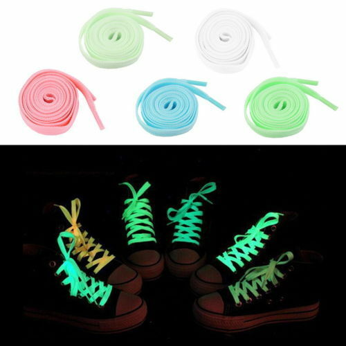 1M Men Women Fluorescent Shoelaces Luminous Laces Glow In The Dark Dazzling