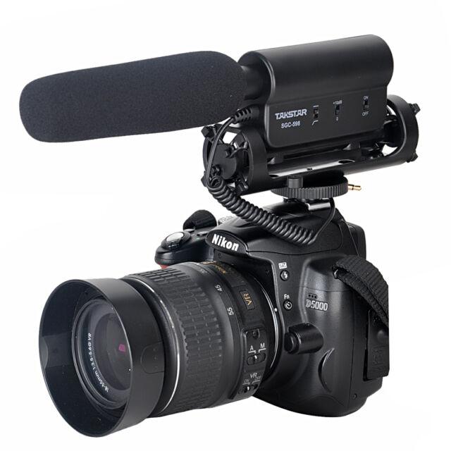 TAKSTAR SGC-598 Photography Interview MIC Microphone for Nikon Canon Camera DSLR