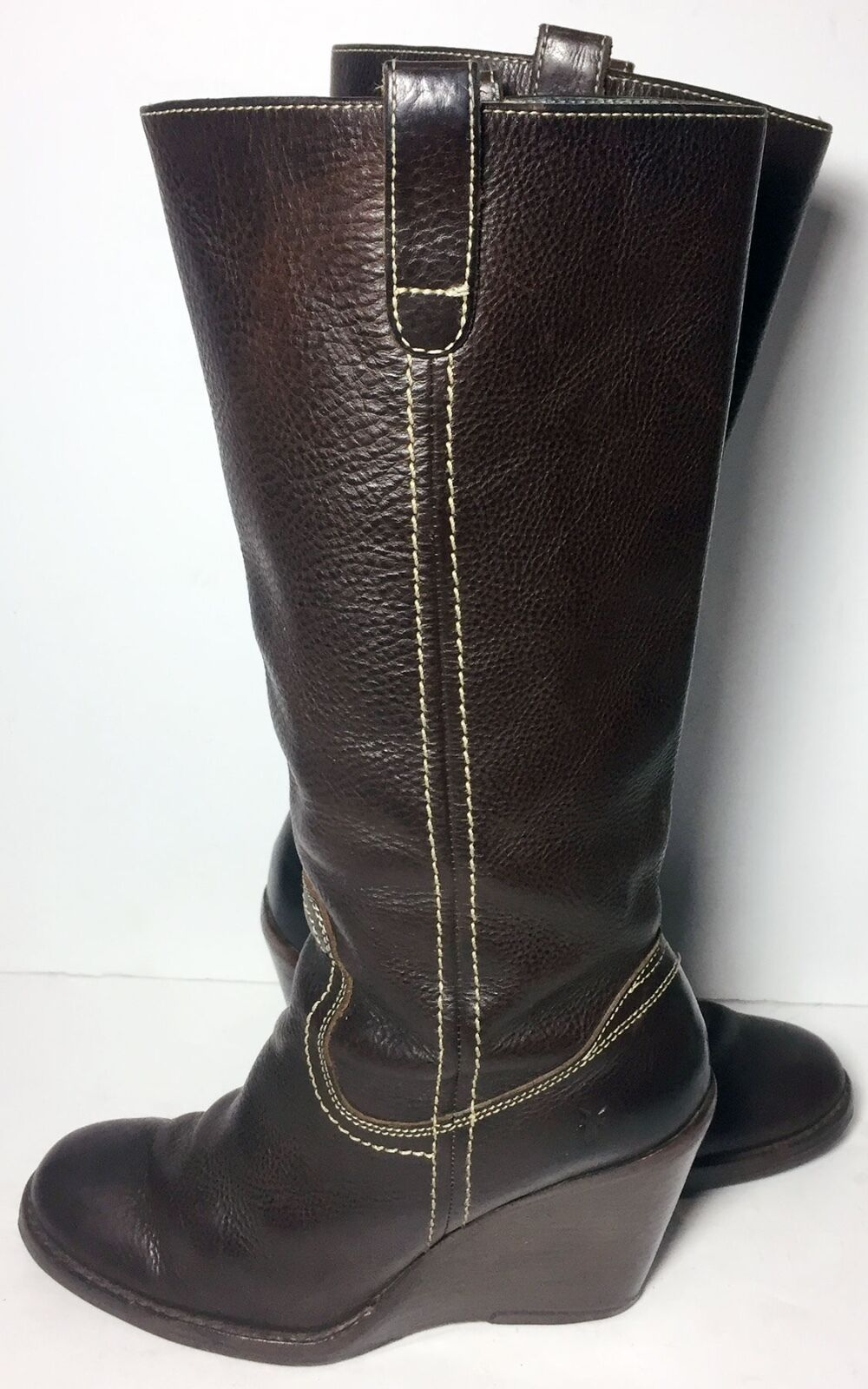 Frye 77337 Campus Caroline Brown Leather Biker Motorcycle Boots Boots Boots Women's Size 8 3df727