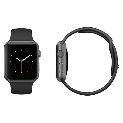 Apple Watch Sport 42mm Space Grey Aluminium Black Sport Band Very Good Condition