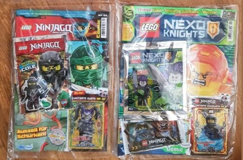 2x LEGO® Magazin LE3 Spinjitzu Meisterin Nya LE20 Oni Masken Ultra Violet