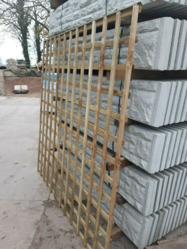 Garden fence trellis panel square pressure treated tanalised 6ft x 6ft