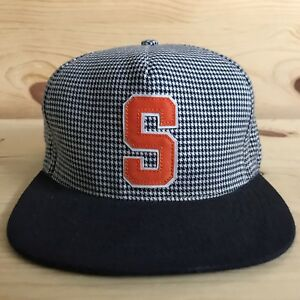12f656e8 Image is loading SUPREME-HOUNDSTOOTH-SNAPBACK-FIVE-PANEL-HAT-PLAID-ORANGE-