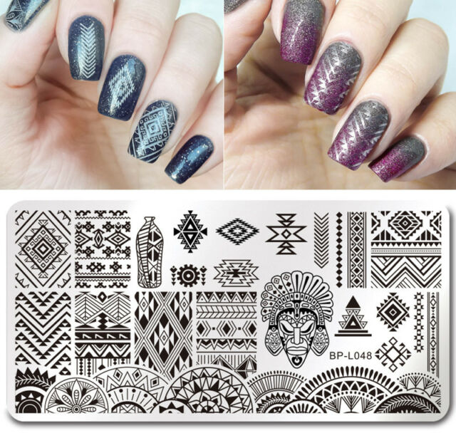 Born Pretty Nail Art Stamp Plate Manicure Image Template Ethnic ...