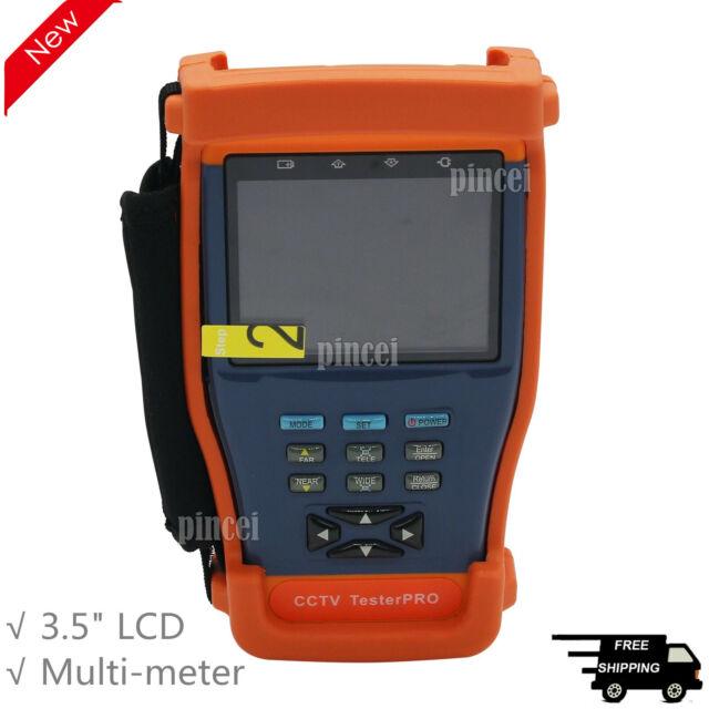 "New 10 in 1 Stest-894 3.5/"" LCD Monitor CCTV Camera PTZ Tester Multimeter 12V 1A"