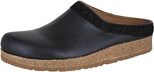 Stegmann Graz Womens Black Leather with Eva Sole Padded Toe Comfort Clogs US 9 M