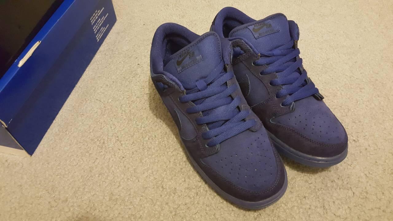 Nike DUNK LOW PREMIUM SB Deep Royal Blue Suede Skate 313170-444 Men Shoes 8.5