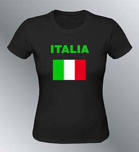 Drapeau Femme Football Italia Shirt Foot Euro Italie Tee Supporter kw8n0OXP