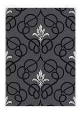 Erismann Dauphin Black Silver Grey Patterned Damask Wallpaper (9738-29)