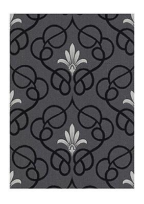 Erismann Dauphin Black Silver Grey Patterned Damask Wallpaper 9738 29 Ebay