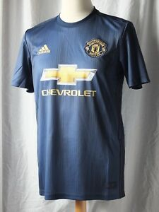 64e8c245690 New Genuine Adidas Manchester United 2018 19 3rd Away Shirt - Adults ...