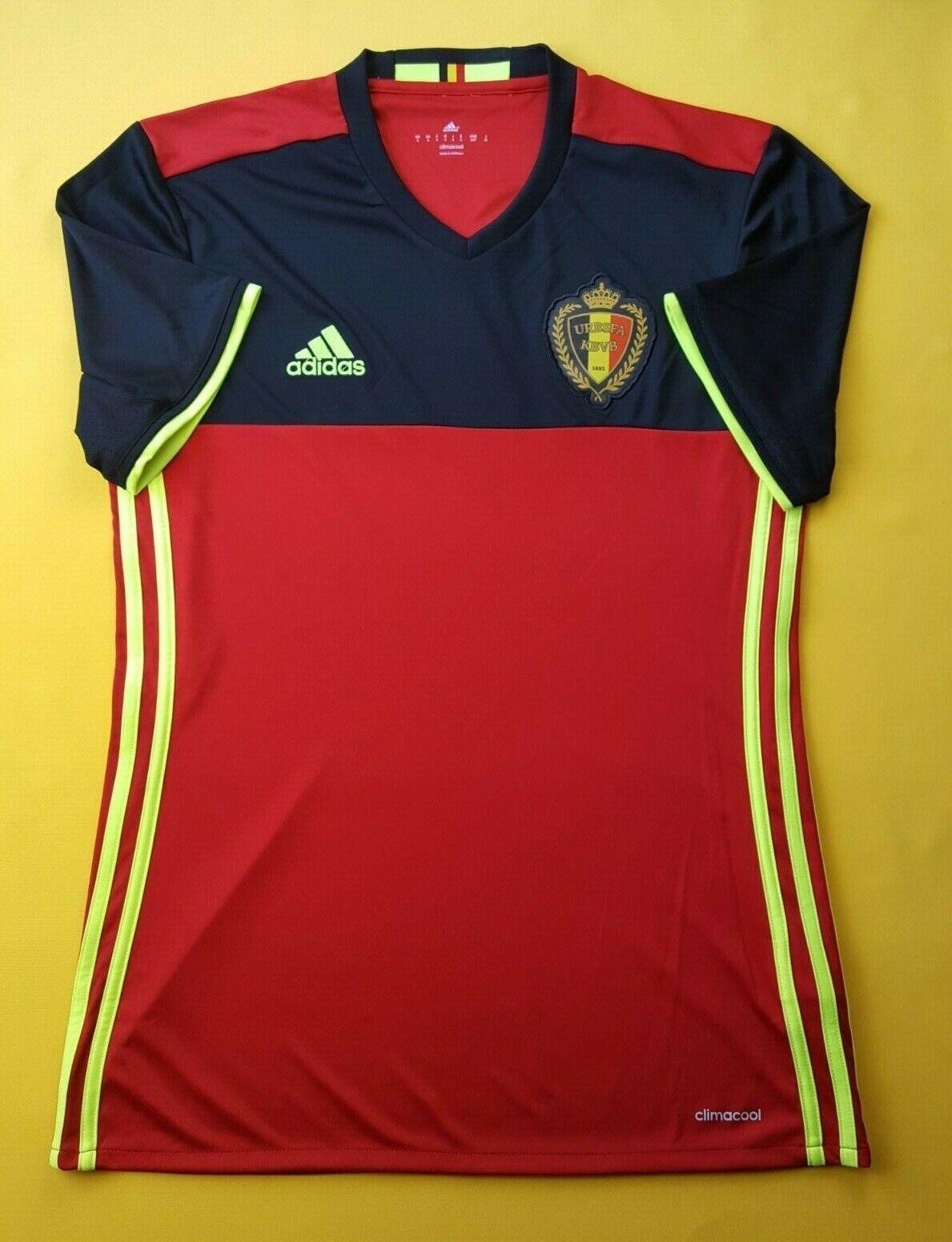 4.6 5 Belgium soccer jersey small 2016 home shirt AA8744 football Adidas ig93