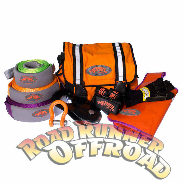 RRO Large 4wd  Recovery Kit 12pce 8000KG Snatch And Extension strap