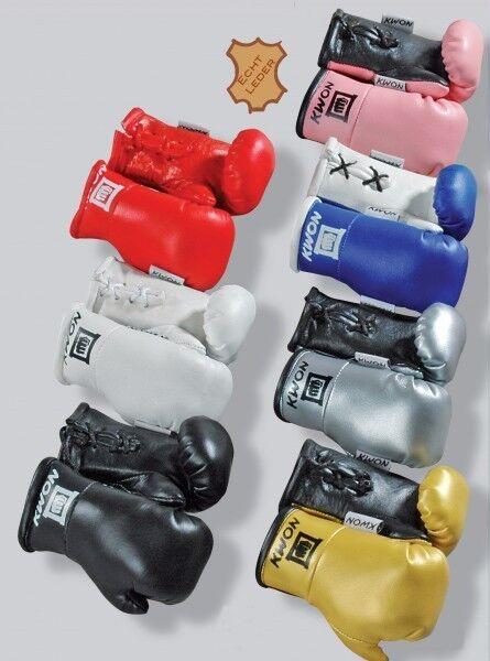 KWON EDEL Mini Boxhandschuhe Autospiegel Miniboxhandschuhe Anhänger Auto Spiegel