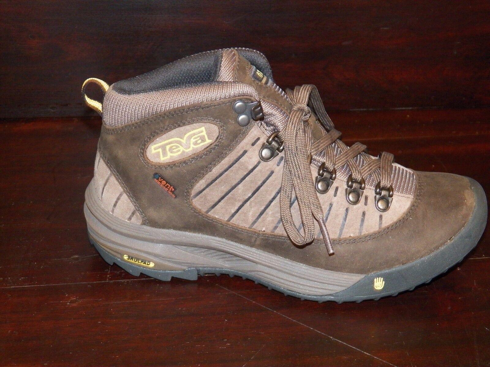 New Damenschuhe TEVA Forge Pro Mid eVent Leder Braun Hiking Trail Walking Schuhes