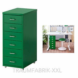 ikea schubladenelement rollcontainer b roschrank schrank schubladenschrank gr n ebay. Black Bedroom Furniture Sets. Home Design Ideas