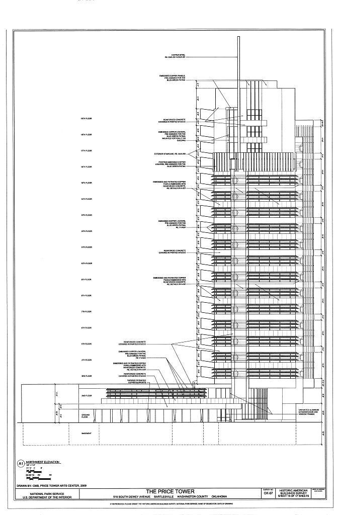 Frank Lloyd Wright's Wright's Wright's iconic Price Tower, groundbreaking skyscraper design be1289