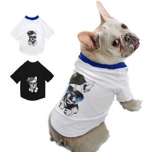 Hundeshirts-fuer-Kleine-Hunde-Franzoesische-Bulldogge-Hund-T-shirt-Hundebekleidung