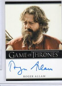 AUTOGRAPH CARD FB GAME OF THRONES SEASON 7 ROGER ALLAM MAGISTER ILLYRIO