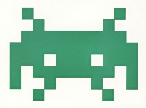 4 SPACE INVADERS  stickers  decal window car laptop