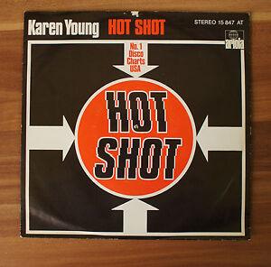 Single-7-034-VINYL-Karen-Young-Hot-Shot-Ariola-15847at