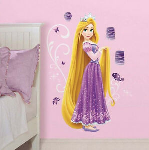 Rapunzel Tangled Wall Stickers Mural 21 Decals With Glitter Disney Princess 34878949505 Ebay