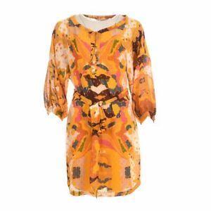DIANE-VON-FURSTENBERG-DVF-Tunic-Dress-Yellow-Size-US-6-UK-10-BE-160
