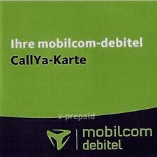 Mobilcom D2 Vodafone Callya Prepaid Sim Karte TALK&SMS Aktiv