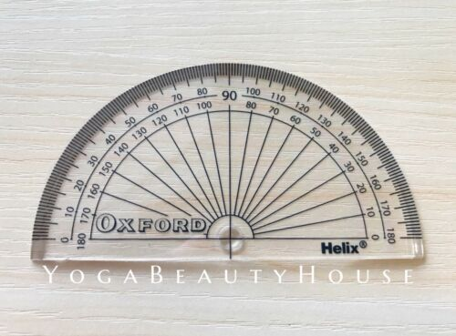 Helix Oxford Protractor Geometry Mathematical Instrument 180 degree circle rule