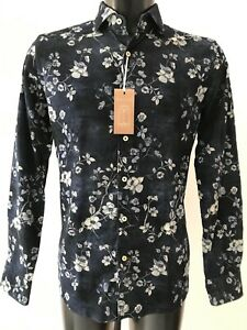 Xacus Mens L S Floral Shirt Size 42 Will Fit Size L Xl 16 5 Collar Rrp 160 Ebay