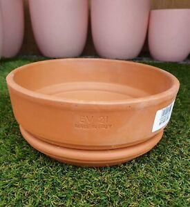 21cm-Outdoor-Garden-Bowl-Plant-Italian-Terracotta-Round-Planter-Pots-Saucers