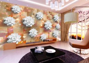 3D goldene Jadebluemen 55 Tapete Tapeten Mauer Foto Familie Tapete Wandgemälde DE