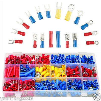 520 PCS ASSORTED WIRE CONNECTORS TERMINALS KIT - ELECTRICAL WIRING SPLICE 22-10