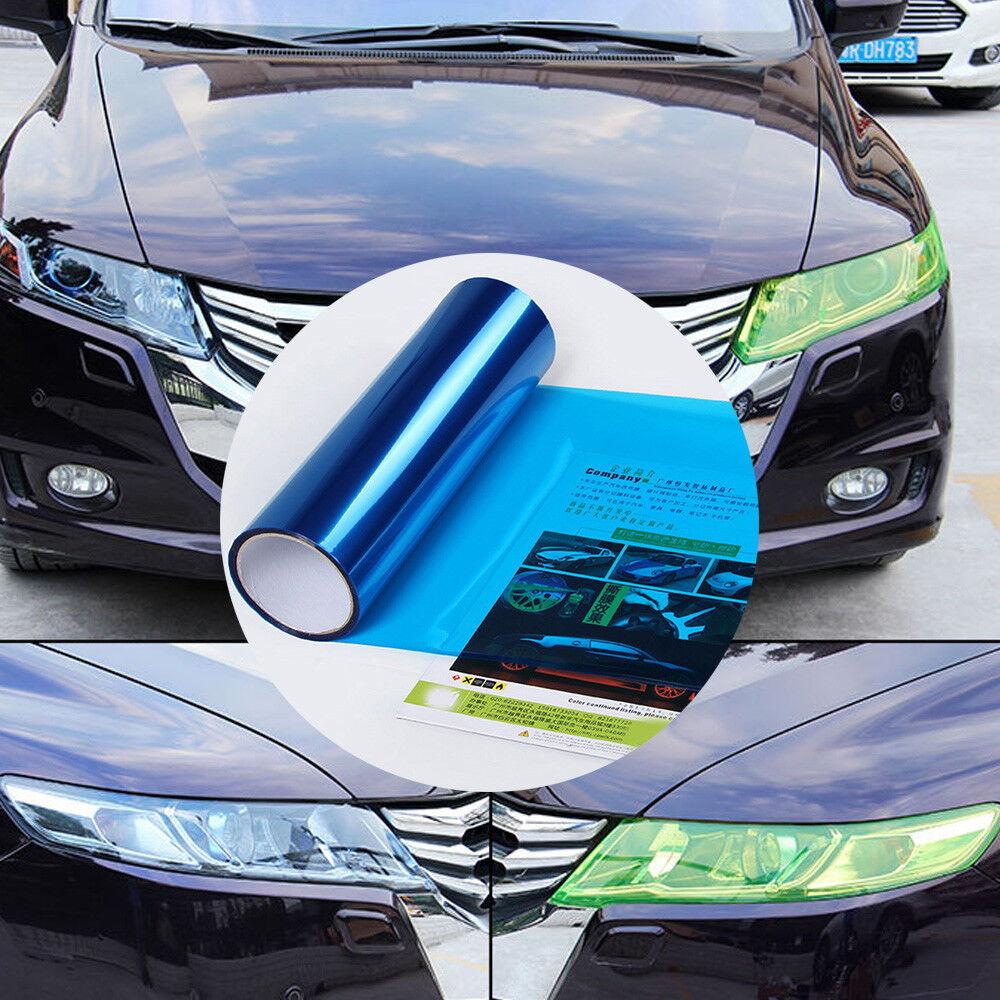 Car Headlight Taillight Fog Light Sticker Tint Protector Film Vinyl Wrap Decals 9