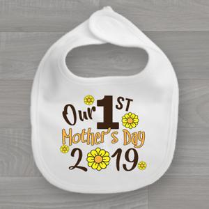 Mon Notre première mère mother/'s Day 2019 Bavoir Bébé Premier Keep Sake Bib