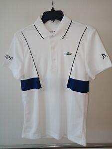 Lacoste Sport Novak Djokovic Tech Pique Tennis Polo Blanc-Bleu XS Extra Small-afficher le titre d`origine ic3mnl0t-07160401-904327833