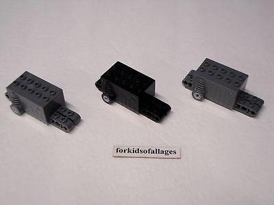 3 Lego Technic PULL BACK MOTORS Dk Bluish Gray /&Old Grey Car Parts Vehicle Racer