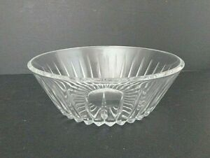 Vintage-Val-St-Lambert-large-9-3-4-034-Clear-Glass-Crystal-Bowl-Balmoral-Pattern