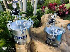 2 Binks 83c 210 Paint Tank 28 Gal Zinc Plated Steel Pressure Pots 83c 210