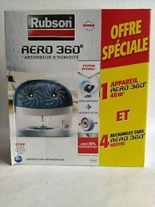 Absorbeur D'humidité/Déshumidificateur Rubson Aero 360⁰ 40m² + 4 recharges neuf