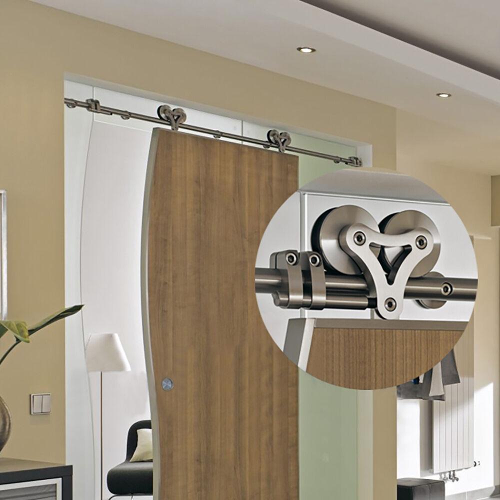 304 edelstahl holz glas schiebet ren beschlag schiebet r. Black Bedroom Furniture Sets. Home Design Ideas