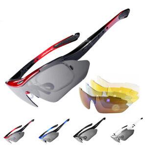RockBros-Polarized-Cycling-Sunglasses-Goggles-Eyewear-Sport-Glasses-5-Lenses